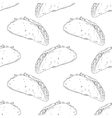 Seamless pattern with hand drawn taco Background vector image vector image