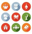 Religion Orthodoxy Islam Catholic Icons Set vector image