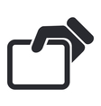 show document icon vector image vector image