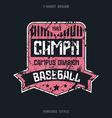 Baseball team badge vector image