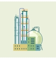 Industrial Chemical Plant Isolated vector image