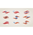 abstract flags for USA independence day vector image