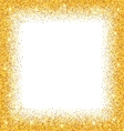Abstract Golden Frame with Sparkles on White vector image