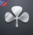 Clover icon symbol 3D style Trendy modern design vector image