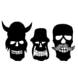 Collection of skulls vector image