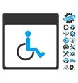 Handicapped Calendar Page Icon With Bonus vector image