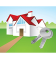 house and keys vector image