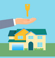 property purchase promotional poster with cozy vector image