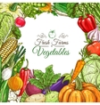 Vegetables poster vegetarian menu design template vector image
