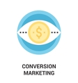 conversion marketing icon concept vector image