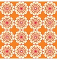 Spirographic orange seamless background vector image