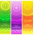 Tribal ethnic vintage banners vector image