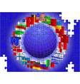 world flags puzzle vector image