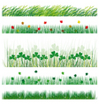 a set of strips of grass and leaves vector illustr vector image vector image