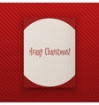 Merry Chistmas hanging paper Banner Template vector image