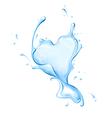 heart of water splash vector image