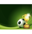 Green abstract Soccer background with ball and vector image