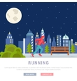 Running Man Template for vector image