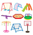 Equipment in Children Playground vector image