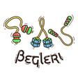 fidget spinner begleri vector image
