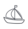 sailboat maritime frame icon vector image