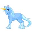 Standing unicorn vector image