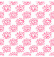 valentines day romantic phrases seamless pattern vector image