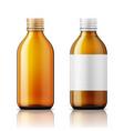White plastic bottle for pills vector image