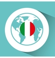 italy flag pin map design vector image