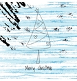 Christmas winter background and abstract xmas tree vector image vector image