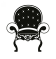 Baroque style armchair vector image