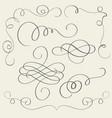 set of art calligraphy flourish vintage decorative vector image vector image