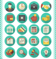 Financial and Business Icons Turquoise Set vector image