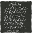 alphabet old black board vector image