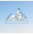 Badge and label logo graphic on abstract blue vector image