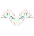DNA gene sign over white background vector image