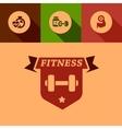 flat fitness design elements vector image
