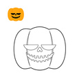 Halloween pumpkin coloring book Symbol for dreaded vector image