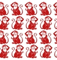 Red monkey seamless patternChinese zodiac sign vector image