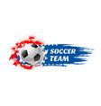 soccer sport game team football ball icon vector image