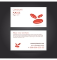 Template business card for medicine vector image