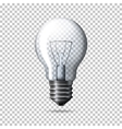 Transparent realistic light bulb isolated vector image