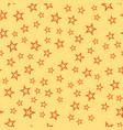 shiny stars style seamless pattern pentagonal gold vector image