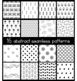 Black And White Simple Patterns vector image