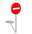 3d do not enter sign vector image