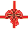 Bow on white vector image vector image