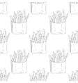 Seamless pattern with hand drawn french fries vector image vector image