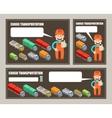Automobile cargo transportation Leaflet banner vector image vector image