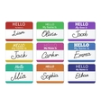 Name tag set Hello my name is vector image