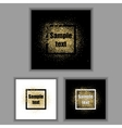 Square frames with golden sparkles vector image